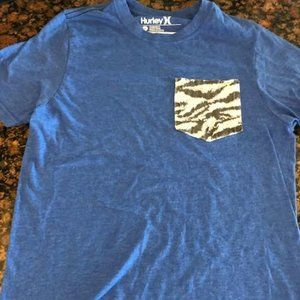 Great condition Hurley shirt with zebra print